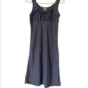 Roots Dark Blue Linen Blend A Line Dress, size 2